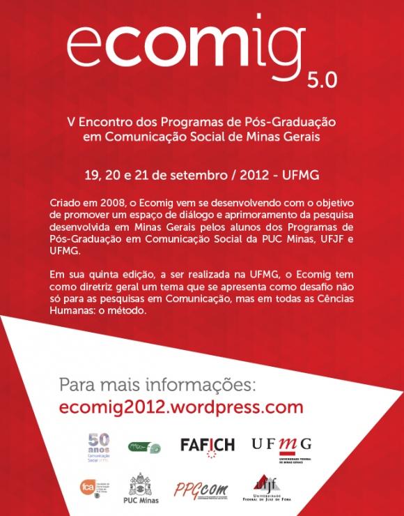Ecomig 2012 – Encontro do Programas de Pós-graduação em Comunicação em Minas Gerais