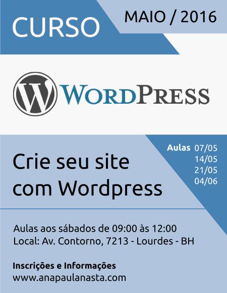 Curso de Wordpress em Belo Horizonte BH