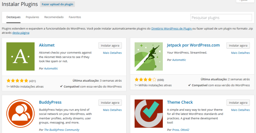 como instalar plugins no wordpress